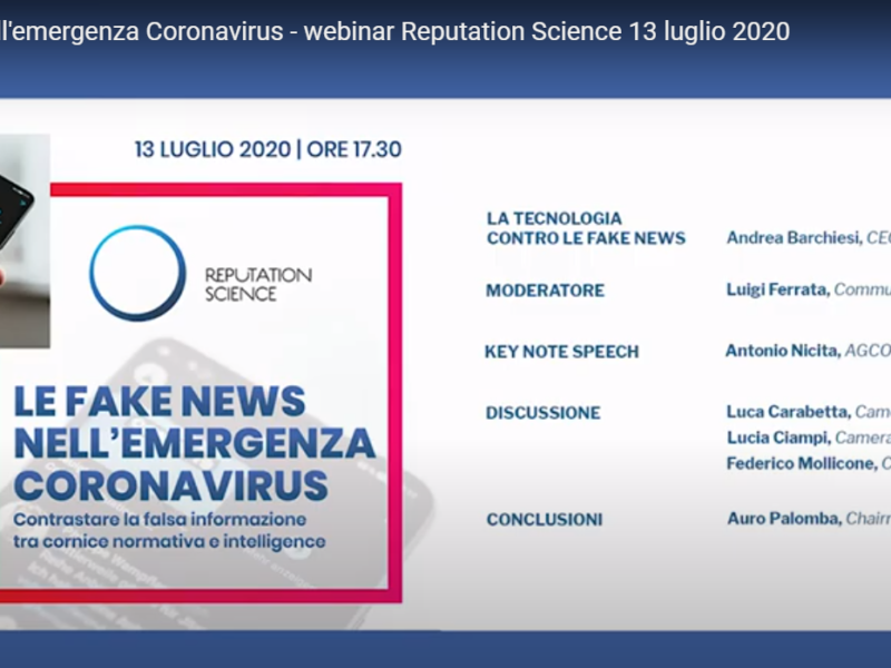 Le fake news nell'emergenza coronavirus – VIDEO